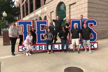 Elite Real Estate Network Members Texas Globe Life Park Baseball Game