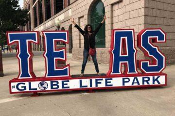 Elite Real Estate Network Member Texas Globe Life Park Baseball Game